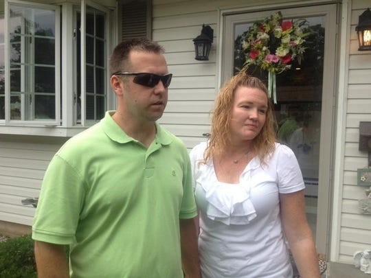 Raymond Lennon shares memories of his younger Mark, who is presumed dead in Friday's boat crash on the Hudson River. Raymond Lennon is pictured with his wife Jeannine outside his parents' home on Braunsdorf Road in Pearl River Sunday, July 28, 2013.