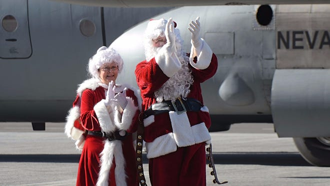 Images taken of Operation Santa Claus, a charity event organized by The Children's Cabinet and the Reno-Tahoe Airport Authority held on Dec. 9, 2017 at Atlantic Aviation airport in Reno.