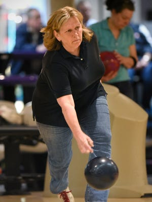 Diane Meyer was the first-place winner in Friday's Times Women's Match Games finals at Great River Bowl in Sartell.