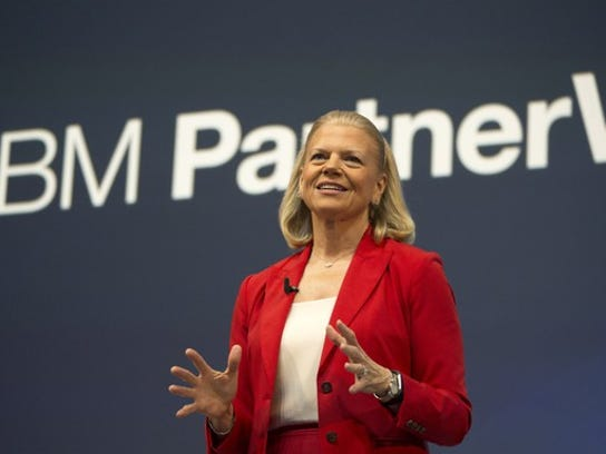 File photo provided by IBM in 2017 shows the information and computing giant's CEO, Ginni Rometty.