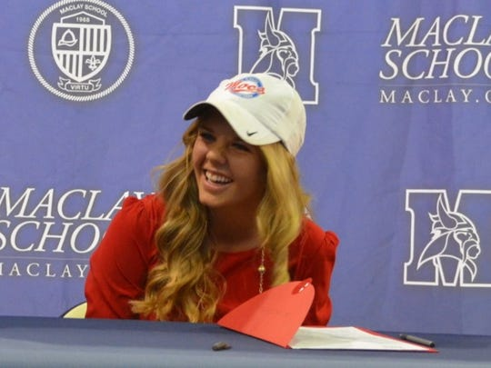 Kolby McWilliams signed with Florida Southern after a stellar golf career at Maclay.