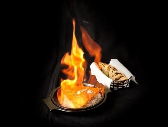 Saganaki is among the many Greek dishes available at this weekend's Greek Fest Fort Myers.
