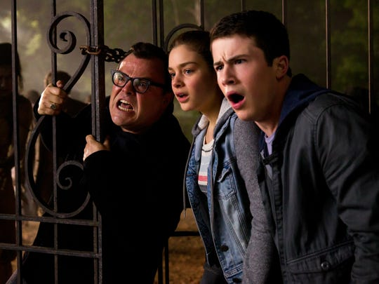 Jack Black, left, Odeya Rush and Dylan Minnette in