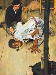 This Norman Rockwell illustration is among the works