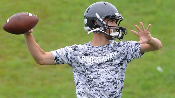 North Buncombe quarterback Chase Parker.