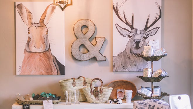The Hare & The Hart, which specializes in Toile of Tallahassee and products that include fabrics, wall paper, gift wrap paper, mugs, stationery, tote bags and more.