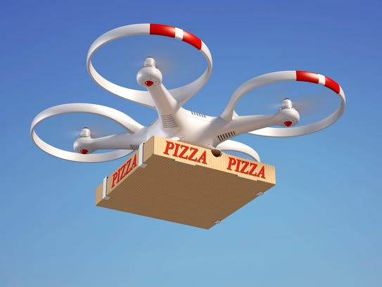 It's a bird! It's a plane! It's pizza drone!