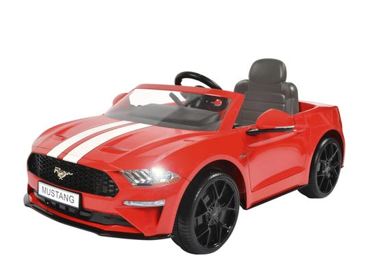 The Rollplay Kids' Ride On 6V Ford Mustang retails at Target for $199.99.