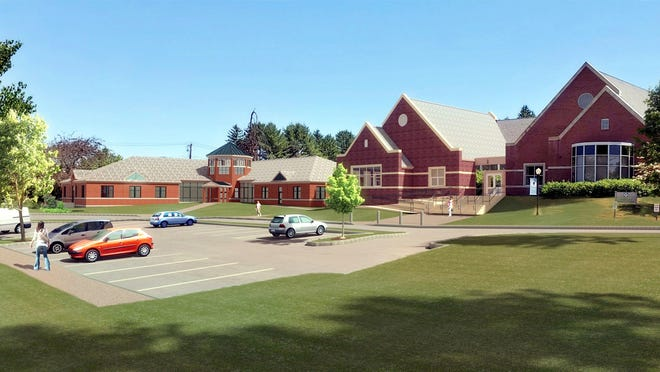 An artist's rendition of the Middle School and Janeway buildings at Perkins School, in Lancaster.