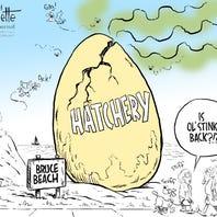Cracked! A cartoon look back at the failed Bruce Beach fish hatchery