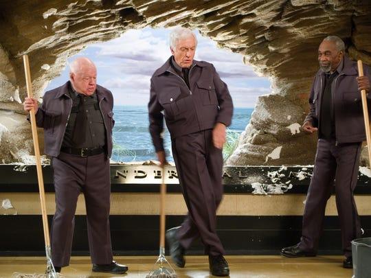 MIckey Rooney, Dick Van Dyke and Bill Cobbs clean up