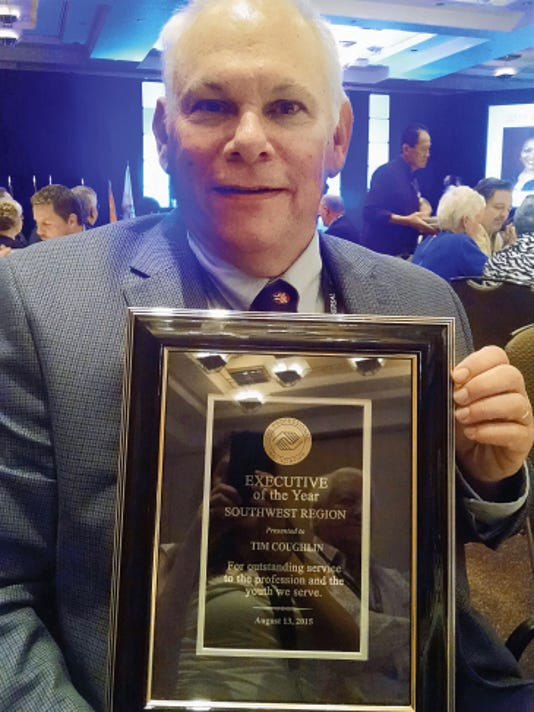 """Tim Coughlin was named """"Executive of the Year"""" at the recent Southwest Region Leadership Conference in Albuquerque by The Professional Association of Boys and Girls Clubs of America."""