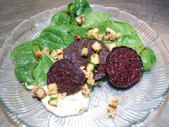 Roasted beets side dish from The Wallace House.