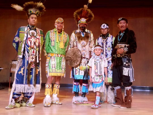 The Yellowhouse Dancers, an intertribal dance troupe,will