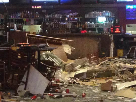 The inside of Diamond Billiards is trashed after a