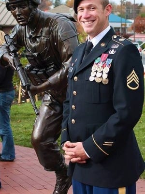 Retired Army Staff Sergeant Benjamin Parker, who was born in Indianapolis, was deployed to Afghanistan twice as an Explosive Ordnance Disposal Team Leader, according to a press release. He safely disarmed more than 300 IEDs and saved countless lives during his tours of duty. He received two bronze stars for his bravery.
