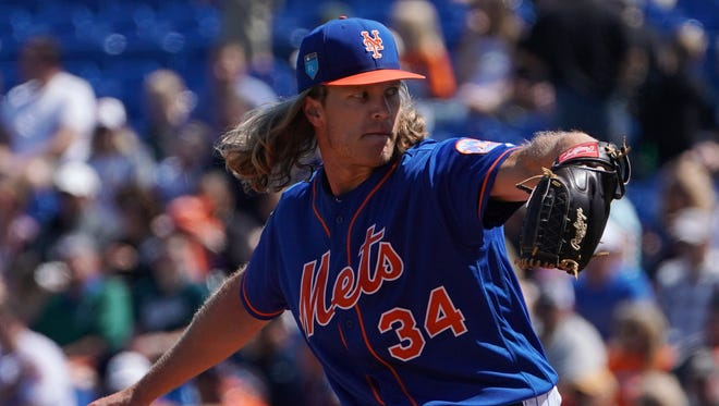 The Mets' Noah Syndergaard only pitched 30 1/3 innings in 2017, but his high ceiling made him a $29 pitcher in the NL LABR auction.