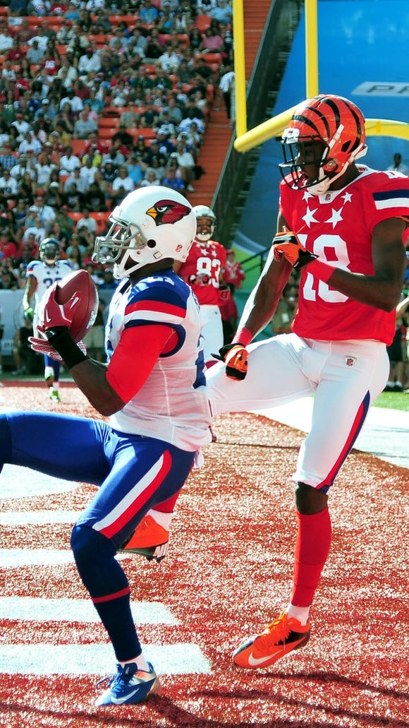 Patrick Peterson and A.J. Green go against each other in the Pro Bowl.