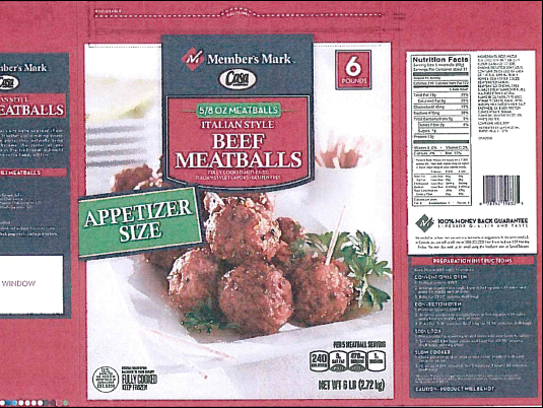 These read-to-eat meatballs are being recalled by Rich