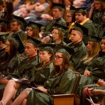 UW Fond du Lac's class of 2015 hold their honors and commencement program, Thursday, May 21, 2015, at Prairie Theater. Thursday May 21, 2015.