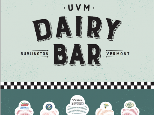 UVM's new Dairy Bar logo was designed by a team at the Cabot-Creamery Cooperative.