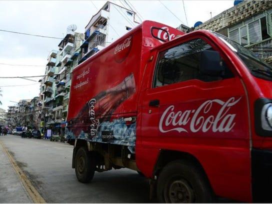 Coca-Cola truck.