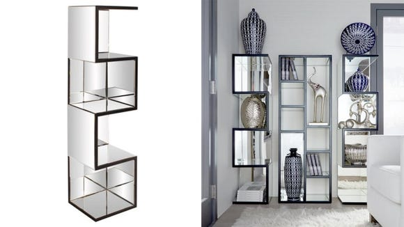 The Howard Elliot Collection Mirrored Floating Shelves