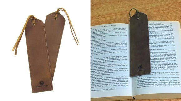 These leather bookmarks are perfect for avid readers.