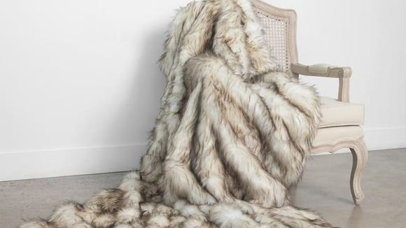 A fuzzy throw is perfect for wintertime.