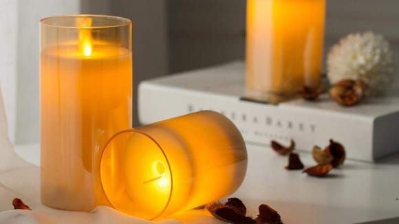 These flameless candles look just like the real thing.