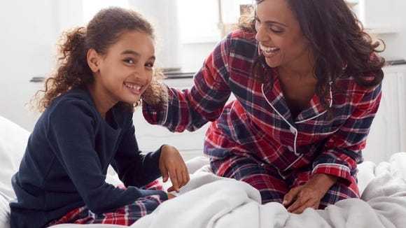 Cozy flannel pajamas are ideal for winter.