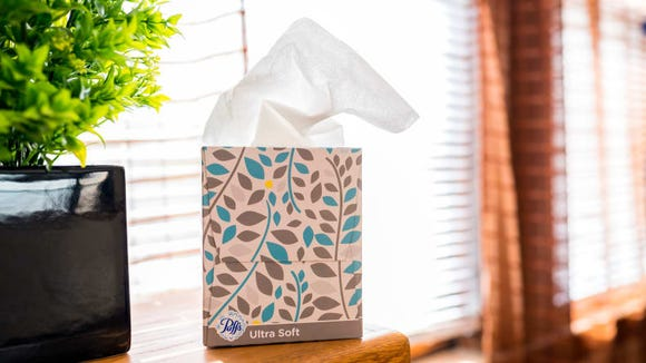 Keep a box of the Puffs Ultra Soft Facial Tissues at your bedside.