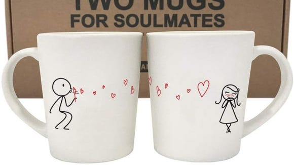 These mugs are ideal for a coffee-loving couple.