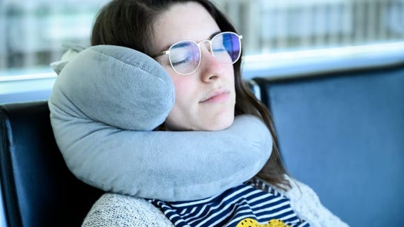 Made from velour-like material, the J-Pillow is snuggle-friendly and looks a bit like a stuffed elephant.
