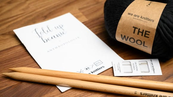 Learn the craft of knitting with a kit from We Are Knitters.