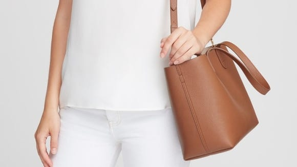 Stay stylish with this sustainable leather tote bag.