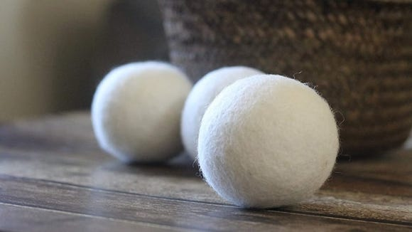 Wool dryer balls can help remove pet hair from laundry.