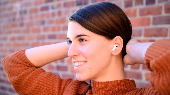 """The new AirPods fit easily in your ears, without the same bulk or """"Frankenstein"""" look of other true wireless earbuds."""