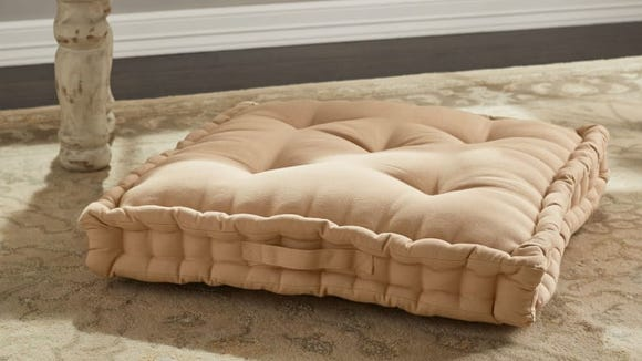 Keep your guests comfortable with plush floor pillows.