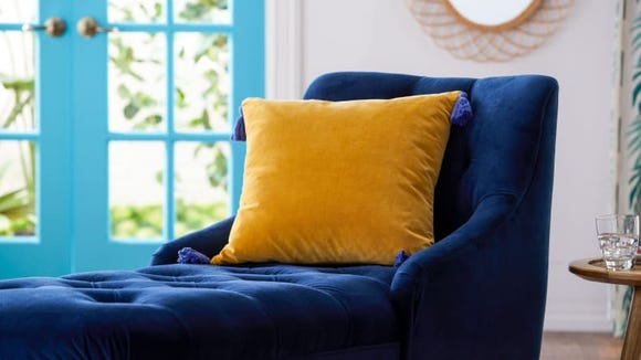 These vibrant pillows will brighten up any room.