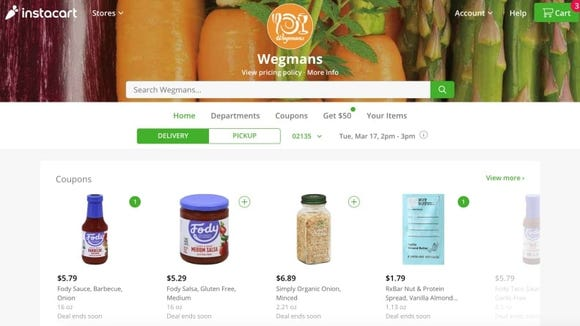 You can choose from several grocery stores with Instacart.