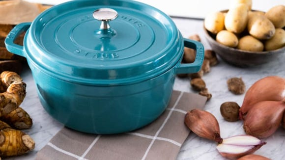 This dutch oven will look gorgeous on your stovetop.