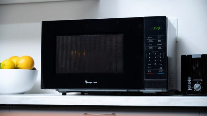 The Magic Chef 1.1 desktop microwave is our favorite affordable microwave.