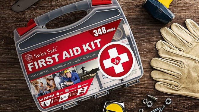 Accidents happen, but you can be ready with this first aid kit.