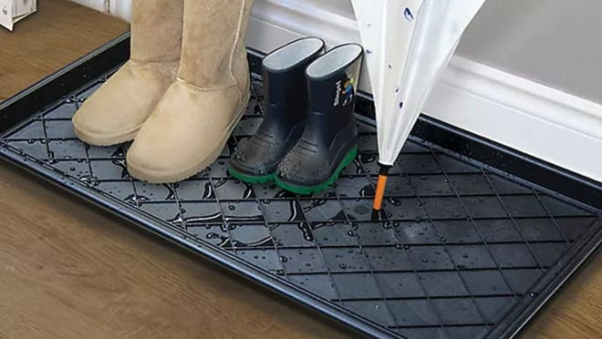 This boot tray is simple and affordable--what more could you ask for?