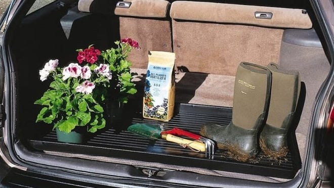 This oversized tray can be used as a trunk liner, if you want!