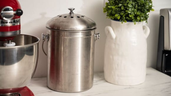 The Epica stainless steel compost bin is the best indoor bin we tested.