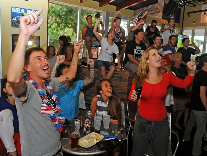 World Cup soccer fans watch Team USA take on Portugal Sunday at World of Beer.