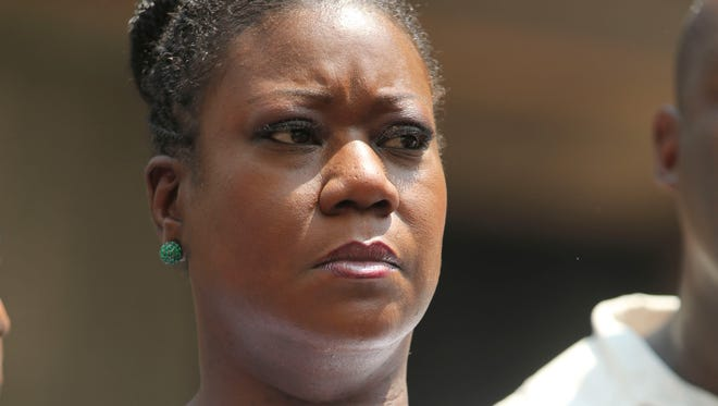 """Sybrina Fulton, mother of Trayvon Martin, attends  a""""Justice for Trayvon"""" rally in New York on July 20, 2013."""