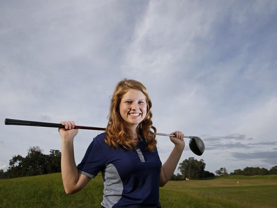 The 2015 All-Big Bend Player of the Year for girls golf is John Paul II senior Teresa Conroy, the third year in a row she has won the award.